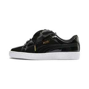 Thumbnail 1 of Basket Heart Patent Women's Trainers, Puma Black-Puma Black, medium