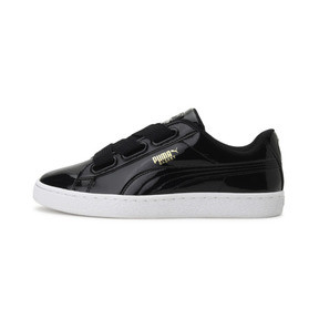 Thumbnail 1 of Basket Heart Patent Women's Sneakers, Puma Black-Puma Black, medium
