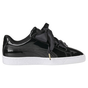 Thumbnail 4 of Basket Heart Patent Women's Trainers, Puma Black-Puma Black, medium