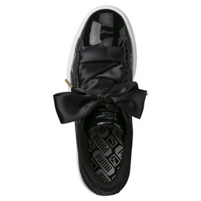 Thumbnail 5 of Basket Heart Patent Women's Trainers, Puma Black-Puma Black, medium
