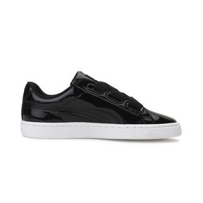 Thumbnail 5 of Basket Heart Patent Women's Sneakers, Puma Black-Puma Black, medium