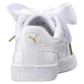 Thumbnail 3 of Basket Heart Patent Damen Sneaker, Puma White-Puma White, medium