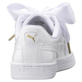 Thumbnail 3 of Basket Heart Patent Women's Sneakers, Puma White-Puma White, medium