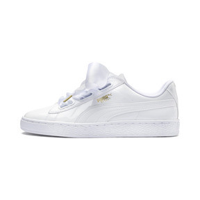 Thumbnail 1 of Basket Heart Patent Damen Sneaker, Puma White-Puma White, medium