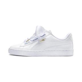 Thumbnail 1 of Basket Heart Patent Women's Sneakers, Puma White-Puma White, medium