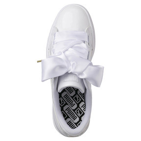 Thumbnail 5 of Basket Heart Patent Women's Trainers, Puma White-Puma White, medium