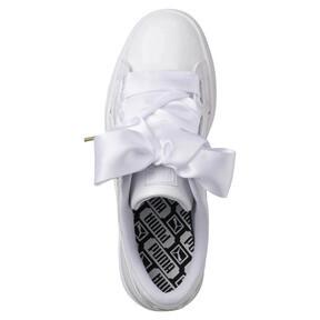 Thumbnail 5 of Basket Heart Patent Women's Sneakers, Puma White-Puma White, medium