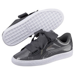 Thumbnail 2 of Basket Heart Patent Women's Sneakers, Iron Gate-Iron Gate, medium