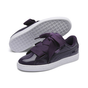 Thumbnail 2 of Basket Heart Patent Women's Sneakers, Indigo-Puma White, medium