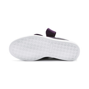 Thumbnail 3 of Basket Heart Patent Women's Sneakers, Indigo-Puma White, medium