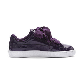 Thumbnail 5 of Basket Heart Patent Women's Sneakers, Indigo-Puma White, medium