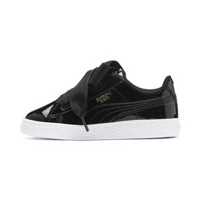 Thumbnail 1 of Basket Heart Patent Pre-School Girls' Trainers, Puma Black-Puma Black, medium