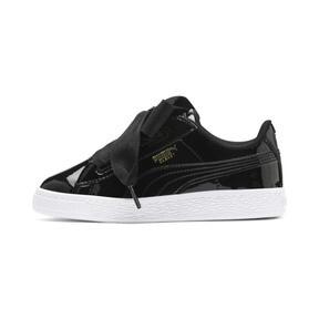 Thumbnail 1 of Basket Heart Patent Sneakers PS, Puma Black-Puma Black, medium