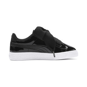 Thumbnail 5 of Basket Heart Patent Pre-School Girls' Trainers, Puma Black-Puma Black, medium