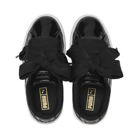 Thumbnail 6 of Basket Heart Patent Pre-School Mädchen Sneaker, Puma Black-Puma Black, medium