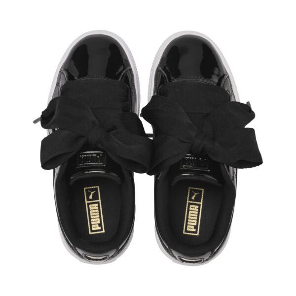 Zapatillas de niña Basket Heart Patent Pre-School, Puma negro - Puma negro, grande