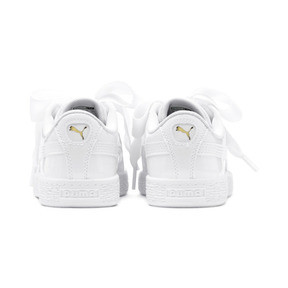 Thumbnail 3 of Basket Heart Patent Pre-School Girls' Trainers, Puma White-Puma White, medium