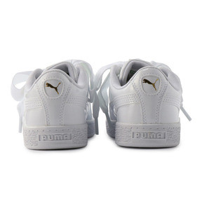 Thumbnail 3 of キッズ ガールズ BASKET HEART パテント PS 17-21cm, Puma White-Puma White, medium-JPN