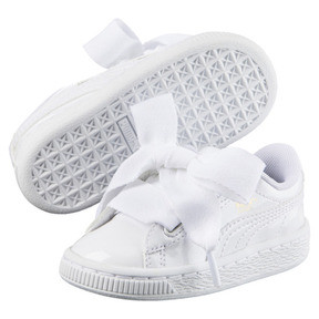 Thumbnail 2 of Basket Heart Patent Sneakers PS, Puma White-Puma White, medium