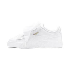 Thumbnail 1 of Basket Heart Patent Pre-School Mädchen Sneaker, Puma White-Puma White, medium
