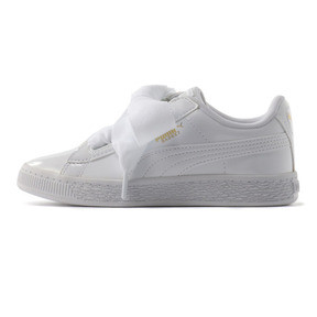 Thumbnail 1 of キッズ ガールズ BASKET HEART パテント PS 17-21cm, Puma White-Puma White, medium-JPN