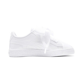 Thumbnail 5 of Basket Heart Patent Pre-School Girls' Trainers, Puma White-Puma White, medium
