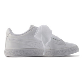 Thumbnail 5 of キッズ ガールズ BASKET HEART パテント PS 17-21cm, Puma White-Puma White, medium-JPN