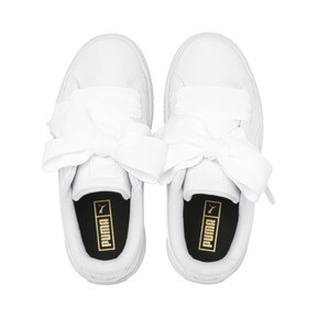 Thumbnail 6 of Basket Heart Patent Pre-School Mädchen Sneaker, Puma White-Puma White, medium