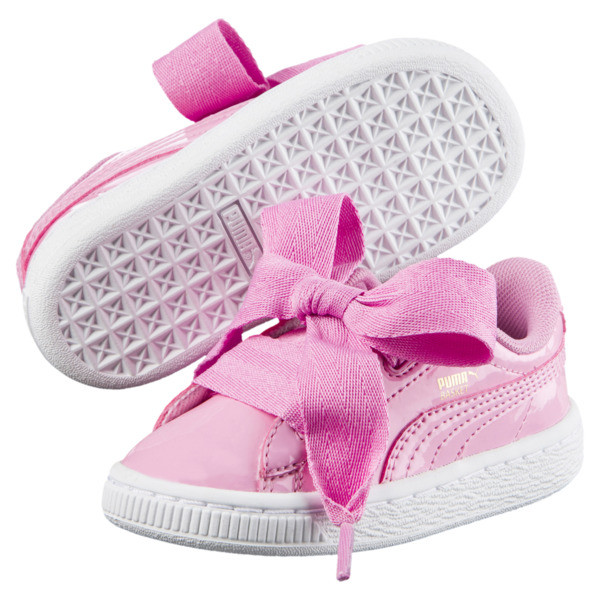 Basket Heart Patent Sneakers PS, PRISM PINK-PRISM PINK, large
