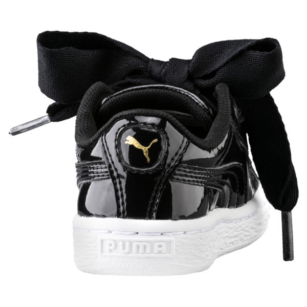 Basket Heart Babies' Trainers, Puma Black-Puma Black, large