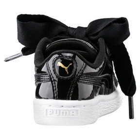 Thumbnail 4 of Basket Heart Patent Sneakers INF, Puma Black-Puma Black, medium