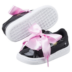 Thumbnail 6 of Basket Heart Patent Toddler Shoes, Puma Black-Puma Black, medium