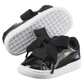 Thumbnail 2 of Basket Heart Babies' Sneakers, Puma Black-Puma Black, medium