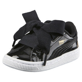 Thumbnail 1 of Basket Heart Babies' Sneakers, Puma Black-Puma Black, medium