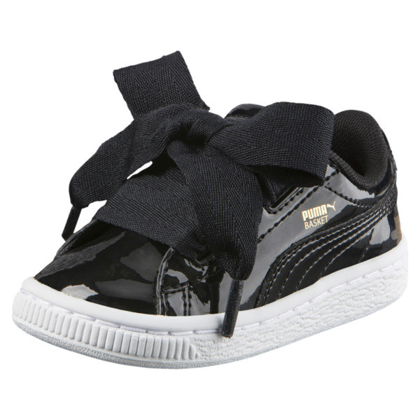 Basket Heart Babies' Sneakers, Puma Black-Puma Black, large