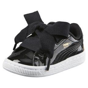 Thumbnail 1 of Basket Heart Patent Sneakers INF, Puma Black-Puma Black, medium
