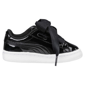 Thumbnail 3 of Basket Heart Babies' Sneakers, Puma Black-Puma Black, medium