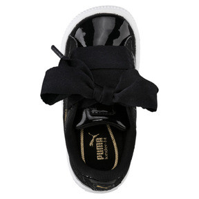 Thumbnail 5 of Basket Heart Babies' Trainers, Puma Black-Puma Black, medium
