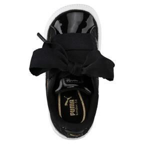 Thumbnail 5 of Basket Heart Patent Sneakers INF, Puma Black-Puma Black, medium
