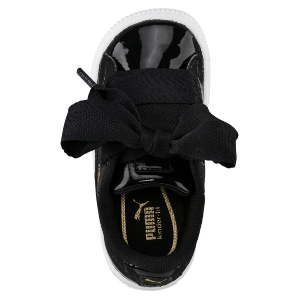 Basket Heart Patent Sneakers INF, Puma Black-Puma Black, large