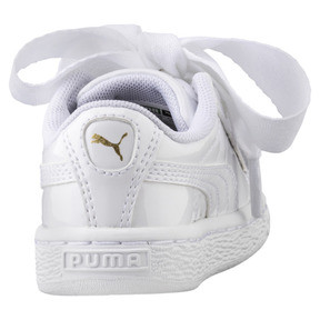 Thumbnail 3 of Basket Heart Patent Mädchen Sneaker, Puma White-Puma White, medium