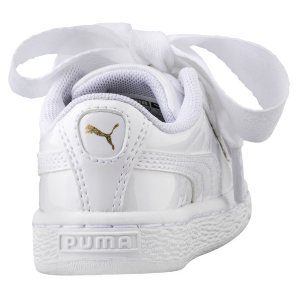 Basket Heart Babies' Sneakers, Puma White-Puma White, large