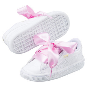 Thumbnail 6 of Basket Heart Babies' Sneakers, Puma White-Puma White, medium