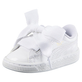 Thumbnail 1 of Basket Heart Patent Mädchen Sneaker, Puma White-Puma White, medium