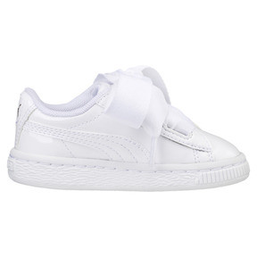 Thumbnail 4 of Basket Heart Patent Mädchen Sneaker, Puma White-Puma White, medium