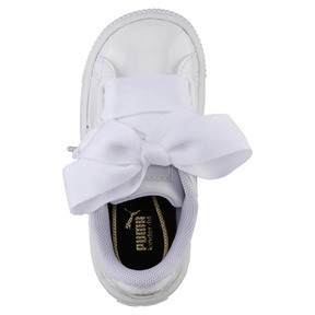 Thumbnail 5 of Basket Heart Babies' Sneakers, Puma White-Puma White, medium