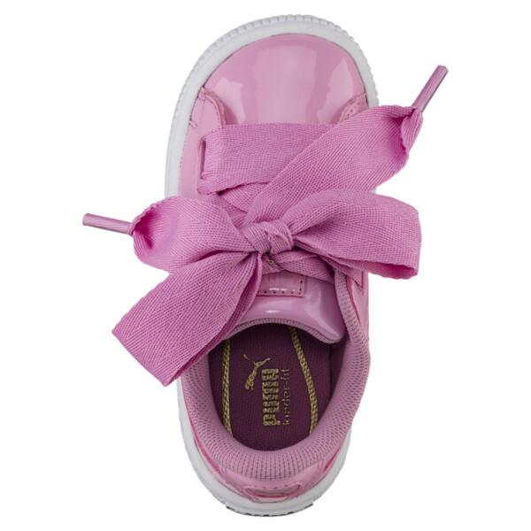 Basket Heart Babies' Sneakers, PRISM PINK-PRISM PINK, large
