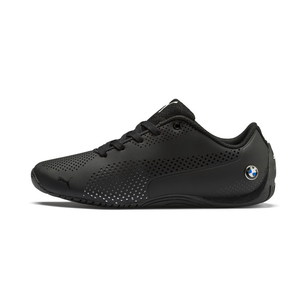 BMW Motorsport Drift Cat 5 Ultra Kids' Trainers, Anthracite-Puma White, large