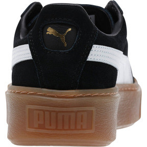 Thumbnail 4 of Suede Platform Core Women's Sneakers, Puma Black-Puma White, medium