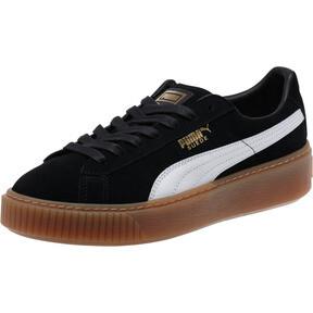 Thumbnail 1 of Suede Platform Core Women's Sneakers, Puma Black-Puma White, medium